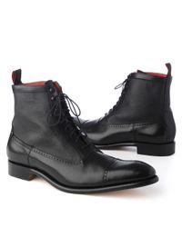 Jeffery West Marriott Lace–up Boots Black for men