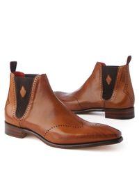 Jeffery West Brown Otoole Chelsea Boots Tan for men