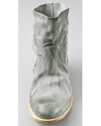 NDC - Gray Sunday Floppy Suede Booties - Lyst