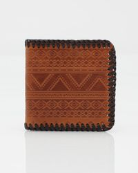 RVCA | Brown Tribal Wallet for Men | Lyst