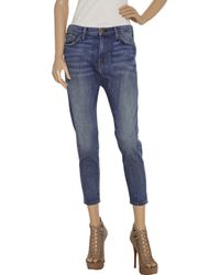 Current/Elliott - Blue The Tokyo Slim High-rise Cropped Jeans - Lyst