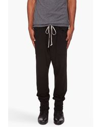 DRKSHDW by Rick Owens - Black Tapered Lounge Pants for Men - Lyst