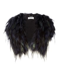 Guy Laroche Black Fox Fur Bolero