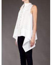 Hache White Handkerchief Blouse