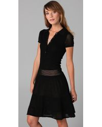 Lacoste - Black The Pointelle Polo Dress - Lyst
