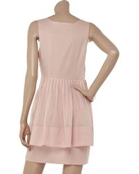 Richard Nicoll - Pink Cotton-voile Dress - Lyst