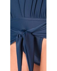 Thayer - Blue Halter One Piece - Lyst