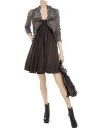 Twenty8Twelve Brown Aura Embroidered Cotton-blend Dress