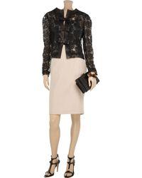 Vionnet Pink Cotton and Silk-blend Pencil Skirt