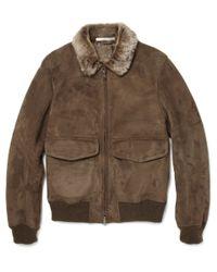 Saint Laurent Brown Snake-print Corduroy Jacket for men