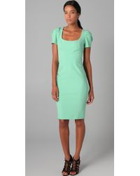 Zac Posen | Green Short Sleeve Dress | Lyst