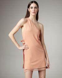 3.1 Phillip Lim | Orange One-shoulder Layered Dress | Lyst