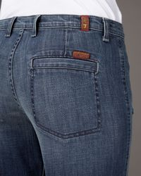7 For All Mankind | Blue Georgia Wide-leg New Zealand Jeans | Lyst