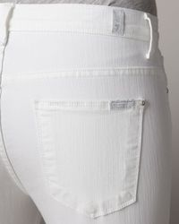 7 For All Mankind - Bell Bottom Clean White Jeans - Lyst