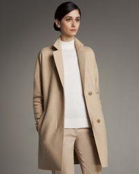 Akris - Natural Kimono-sleeve Coat - Lyst
