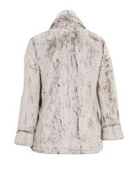 Alice + Olivia Natural Petra Faux Fur Jacket