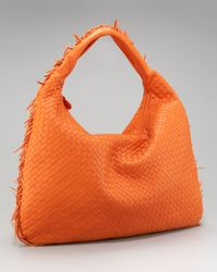 Bottega Veneta - Orange Maxi Fringe Veneta Hobo - Lyst