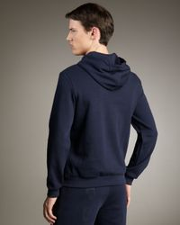 Burberry Sport - Blue Jersey Logo Hoodie for Men - Lyst