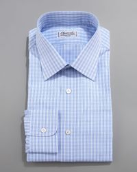 Charvet | Blue Check Dress Shirt for Men | Lyst