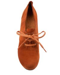 Chie Mihara Orange Lace Up Shoe