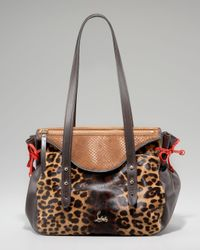 Christian Louboutin Multicolor Pola Leopard-print Calf Hair Shoulder Bag