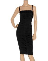 Dolce & Gabbana Black Pleated Silk-blend Dress