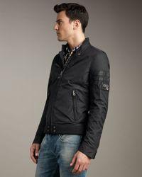 DIESEL - Black Jupenno Nylon Jacket for Men - Lyst