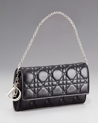 Dior - Black Rendezvous Chain Wallet - Lyst