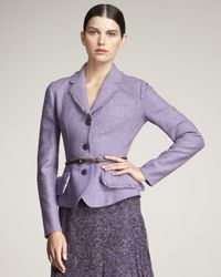 Dior | Purple Double-face Peplum Jacket | Lyst