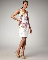 Elie Tahari | Multicolor Kathy Floral-print Dress | Lyst