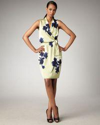 Elie Tahari | Blue Halley Floral-print Dress | Lyst