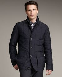 Ermenegildo Zegna | Blue Water-repellant Jacket for Men | Lyst