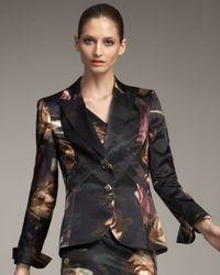 ESCADA | Black Rose-print Blazer | Lyst