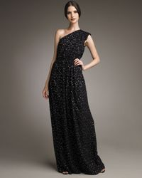 Fendi - Black One-shoulder Fil Coupe Gown - Lyst