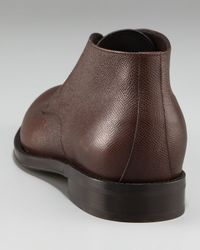 Ferragamo | Brown Felino Grained Chukka for Men | Lyst