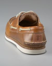 Frye - Brown Sully Boat Shoe, Camel for Men - Lyst