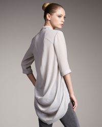 Helmut Lang | Gray Fray Shirt | Lyst