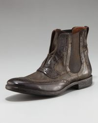 John Varvatos | Brown Ago Chelsea Wing-tip Boot for Men | Lyst