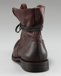 John Varvatos - Brown Ago Side Zip Boot for Men - Lyst