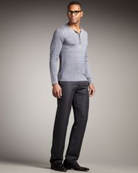 John Varvatos | Straight-leg Pants, Iron Gray for Men | Lyst