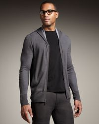 John Varvatos | Gray Thermal Hoodie for Men | Lyst