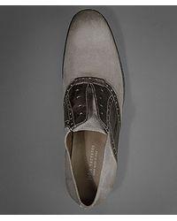 John Varvatos Gray Ago Saddle Shoe for men