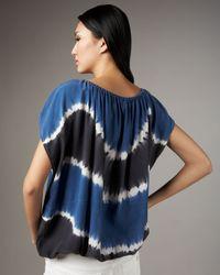 Joie - Blue Caro Tie-dye Silk Top - Lyst