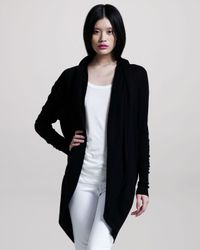 Joie | Black Rathana Hooded Cardigan | Lyst