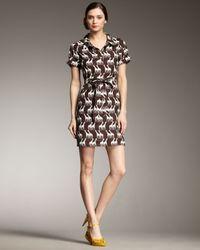kate spade new york | Brown Dana Giraffe-print Dress | Lyst