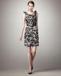kate spade new york | Black Barbara Leopard-print Dress | Lyst