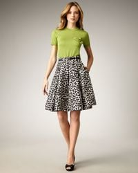 Kate Spade | Black Lillith Leopard-print Skirt | Lyst