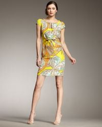 kate spade new york | Yellow Betty Butterfly-print Dress | Lyst