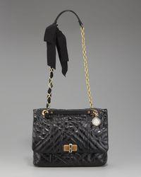 Lanvin - Black Happy Mm Shoulder Bag - Lyst