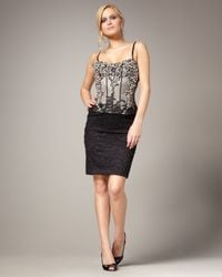 Mandalay | Black Beaded Bustier Lace Dress | Lyst